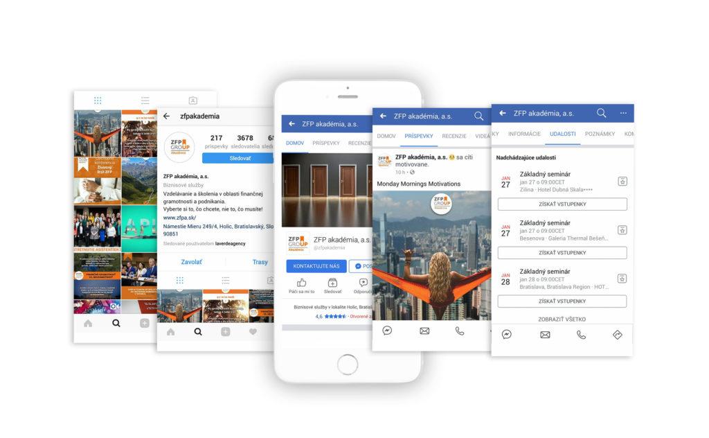 Facebook ZFP akadémia Sociálne siete