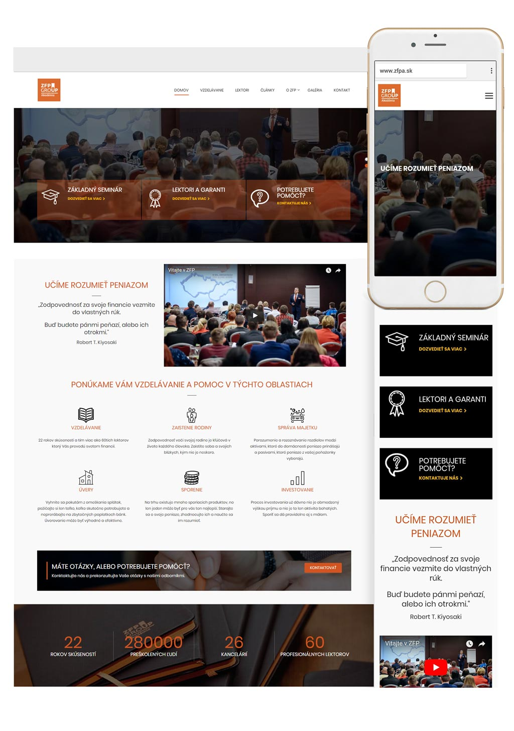 ZFP akadémia, a.s. | web